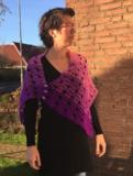 Patroon: Wollcandy paarse stola