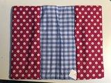 Kraamcadeau, hoesje voor luiers blauw roze, omkeerbaar
