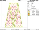 Borduurmachine patroon: 3d kerstboom