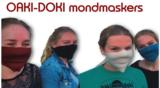 Oaki Doki Fashion mondkapjes kleurrijke mondmaskers, wasbaar