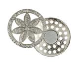 Magnetische broche bloem 45mm , vest sluiting, needle minder, diverse kleuren