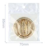 Magnetische broche Tulp 45mm , vest sluiting, needle minder, diverse kleuren