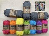 Garenpakket: Catona Uni  voor de Regenboog van Hoop sjaal INCL PDF breipatroon