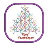 Borduurmachine patroon: Onderzetter kerstboom