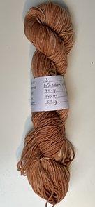 Handgeverfd garen Softfun, 50 gram, oranje bruin kleurnr 3