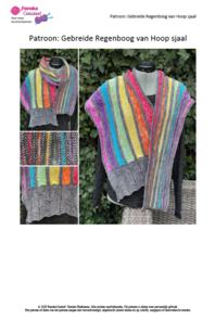 PDF Breipatroon: Regenboog van Hoop sjaal