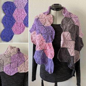 Patroon: Gehaakte hexagon sjaal Hannah
