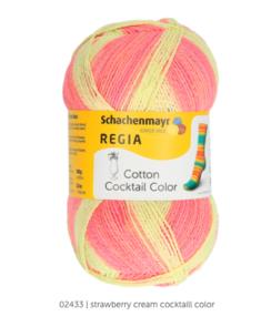 Regia coton sokkengaren, sokkengaren ZONDER wol. OP = OP Cotton Cocktail Color