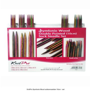 KnitPro Symfonie Wood sokkennaalden 10cm - set