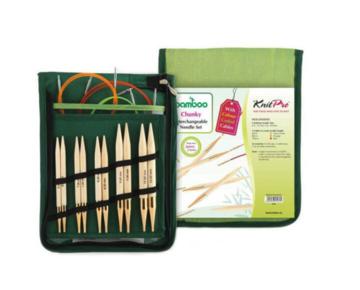 Knitpro Bamboo verwisselbare rondbreinaalden chunky set