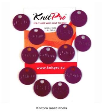 Knitpro maat labels