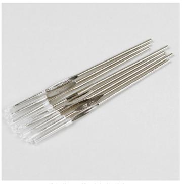 Haaknaalden set van 8 ijzeren haaknaalden, 1,0-1,7 mm