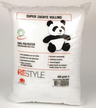 Kussenvulling / knuffelvulling wasbaar, Fibrefill 500 gram 1 st Panda