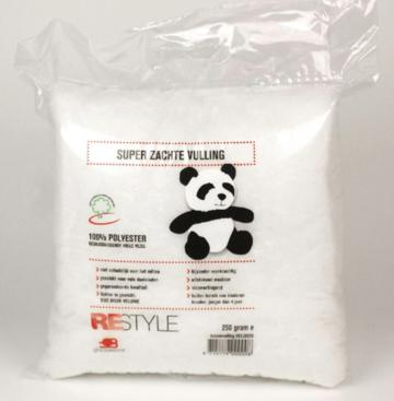 Kussenvulling / knuffelvulling wasbaar, Fibrefill 250 gram 1 st Panda