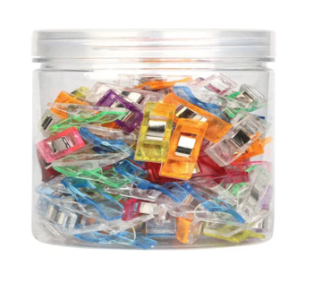 Potje met 100 Wonder clips: Knijpen en vasthouden, kleine knijpertjes - vervanging voor spelden voor naaien