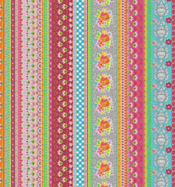 Stof Ramona multicolour katoen poplin per 50 centimeter, a spark of Happiness