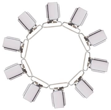 Speenclips / bretelclips zilverkleur voor oa speenkoord plat