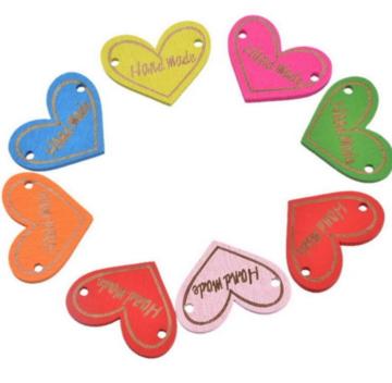 Houten label hart Handmade