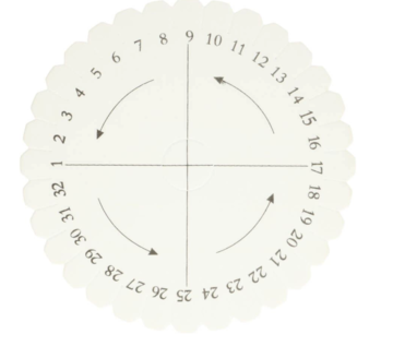 Kumihimo disc loom rond 15 cm