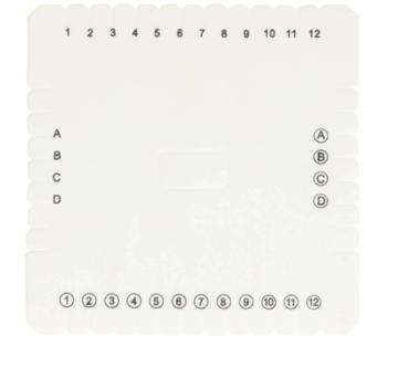 Kumihimo disc loom vierkant 10 cm