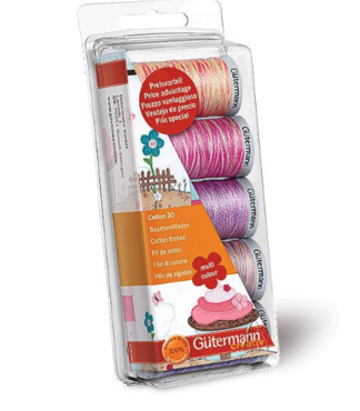 Gutermann borduurgarenset cotton 30, roze paars