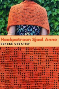 Patroon Sjaal Anne, Filet haken sjaal incl uitleg en patroon.