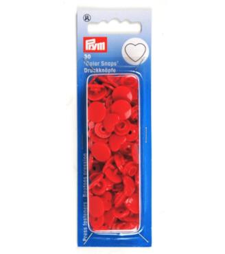 Prym Drukknoop Color Snaps Hart rood