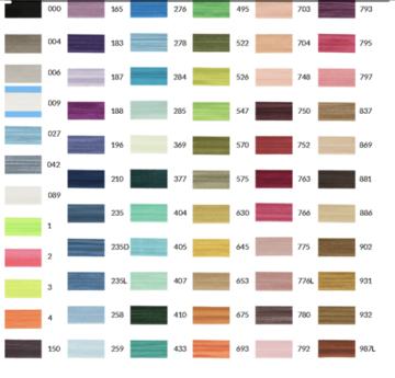 Vouwtres elastiek glans 20 mm, prijs per meter, diverse kleuren