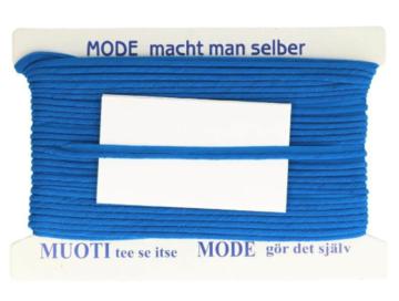 Paspelband mode maak je zelf, per meter, blauw