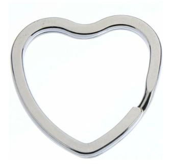 Sleutelring hart 31 mm (per stuk)