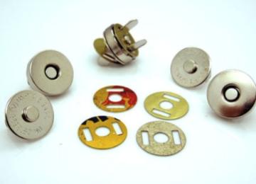 Magneetsluiting tas 14 mm. Zilverkleurig / nikkel, diverse varianten