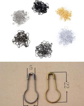 Metalen steekmarkeerders zakje van 10 stuks wit
