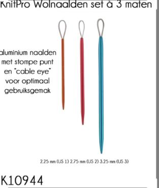 KnitPro Wolnaalden set à 3 maten