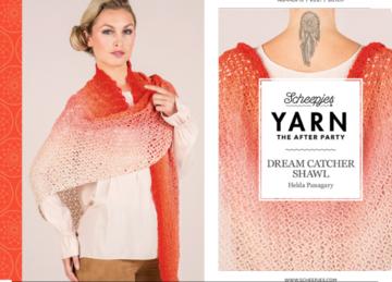 Scheepjes Yarn the afterparty 15 dream catcher shawl door Helda Panagary