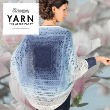Scheepjes Yarn the afterparty 27 indigo shrug