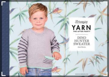 Scheepjes Yarn the afterparty 22 Dino Hunter Sweater door Jane Burns