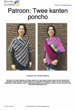 Patroon: Twee kanten poncho