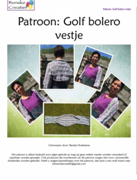 Patroon: Golf Bolero vestje