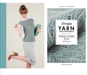 Scheepjes Yarn the afterparty 35 Term Time Top door Pat Strong