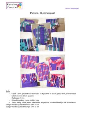 Patroon: Gehaakte bloemensjaal, 2 varianten