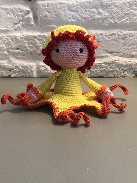 Gehaakte Octopus Olga naar patroon van Zabbes