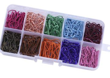 Doosje met 300 metalen steekmarkeerders kleur 2