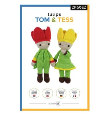 Haakpakket Bas den Braver Zabbez tulips Tom & Tess