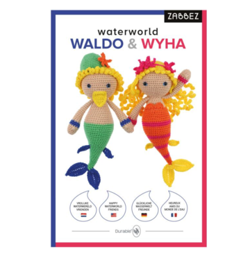 Haakpakket Bas den Braver Zabbez mermaids Waldo & Wyha