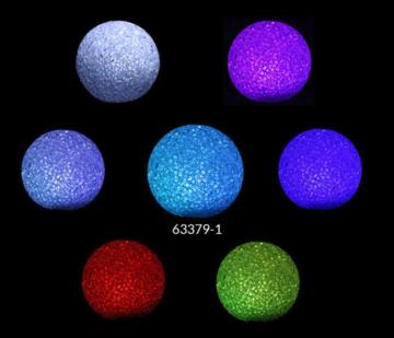 Led lichtbal 8 cm gekleurd