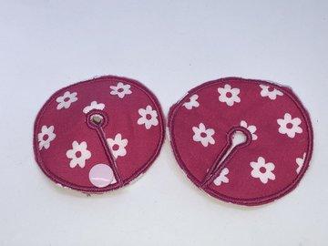 Sondepad roze met witte bloemen