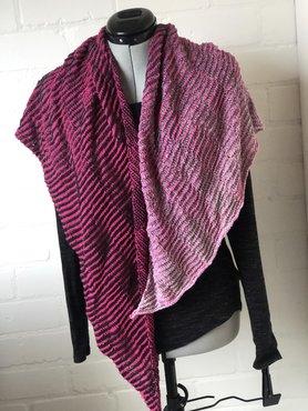 Driehoekige omslagdoek zwart roze, schaduw