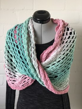 Mobius sjaal roze - groen