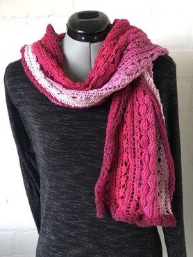 Roze whirl sjaal