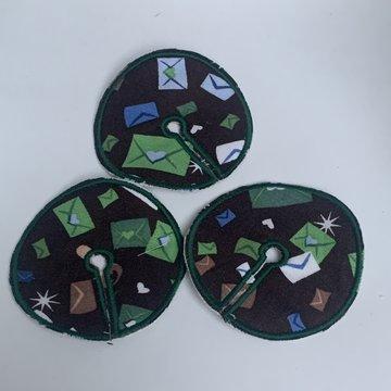 Sondepad groen met enveloppen